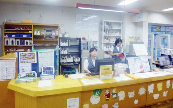 図書館カウンター